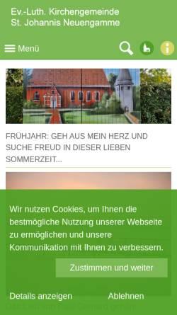 Vorschau der mobilen Webseite www.kirche-neuengamme.de, Kirchengemeinde St. Johannis zu Neuengamme