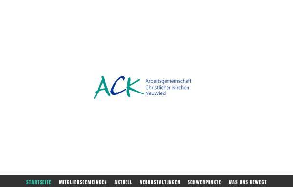 Vorschau von www.ack-neuwied.de, Arbeitsgemeinschaft Christlicher Kirchen in Neuwied