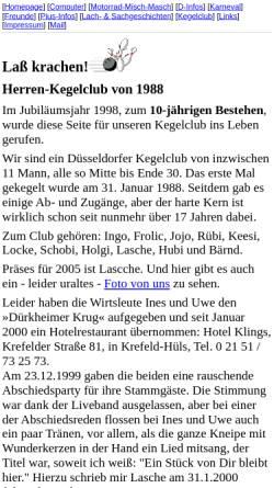 Vorschau der mobilen Webseite www.michael-lorkowski.de, Kegelclub