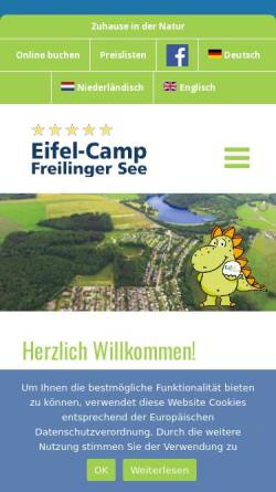 Vorschau der mobilen Webseite www.eifelcamp.com, Eifel-Camp