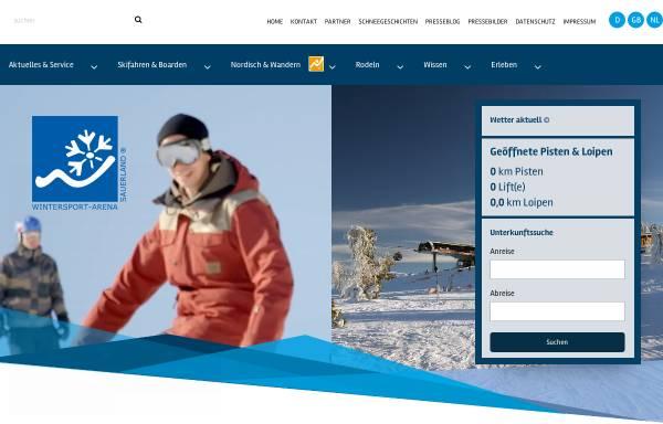 Vorschau von www.wintersport-arena.de, Wintersport-Arena Sauerland