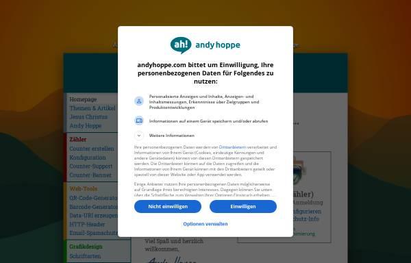 Vorschau von www.andyhoppe.com, Andy Hoppes Counter