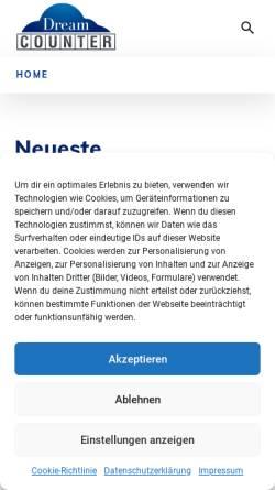 Vorschau der mobilen Webseite www.dreamcounter.de, Dreamcounter.de