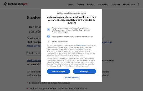 Vorschau von fc.webmasterpro.de, FlashCounter