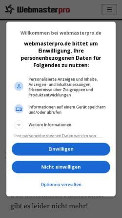 Vorschau der mobilen Webseite fc.webmasterpro.de, FlashCounter