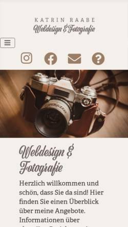 Vorschau der mobilen Webseite katrin-raabe.de, Katrin Raabe