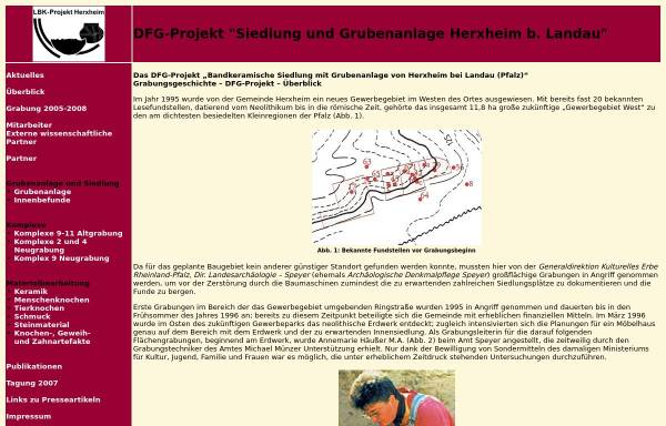Vorschau von www.projekt-herxheim.de, DFG-Projekt