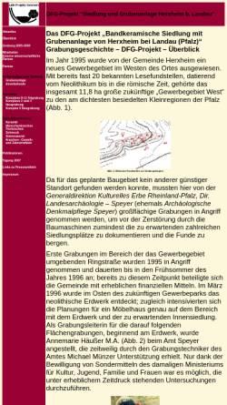 Vorschau der mobilen Webseite www.projekt-herxheim.de, DFG-Projekt