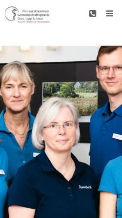 Vorschau der mobilen Webseite www.arztpraxis-lipp-amm.de, Gemeinschaftspraxis Drs. Lipp & Amm