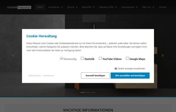 Vorschau von www.fliesenparadies-lindau.de, Fliesenparadies Lindau