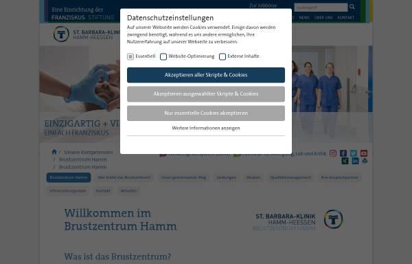 Vorschau von www.brustzentrum-hamm.de, Brustzentrum Hamm, Ahlen-Soest