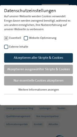 Vorschau der mobilen Webseite www.brustzentrum-hamm.de, Brustzentrum Hamm, Ahlen-Soest
