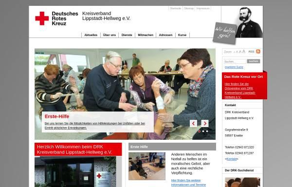 Vorschau von www.drkhell.drkcms.de, DRK Kreisverband Lippstadt-Hellweg e.V.