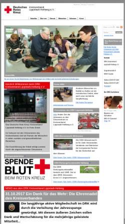 Vorschau der mobilen Webseite www.drkhell.drkcms.de, DRK Kreisverband Lippstadt-Hellweg e.V.