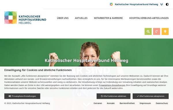 Vorschau von www.hospitalverbund.de, Katholischer Hospitalverbund Hellweg