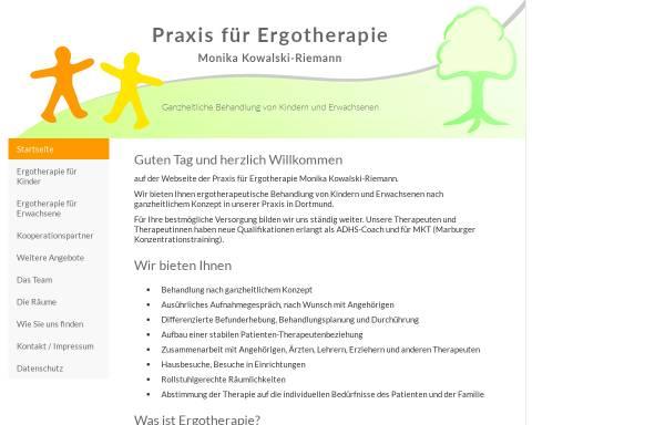 Vorschau von www.ergotherapie-kowalski-riemann.de, Praxis für Ergotherapie Monika Kowalski-Riemann
