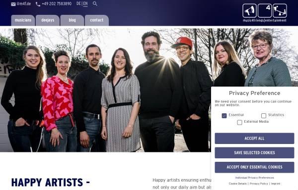 Vorschau von www.music4friends.de, Music4friends
