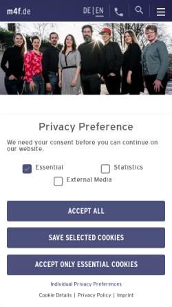 Vorschau der mobilen Webseite www.music4friends.de, Music4friends