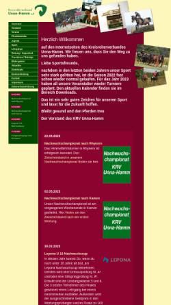 Vorschau der mobilen Webseite www.krv-unna-hamm.de, Kreisreiterverband Unna/Hamm e.V.