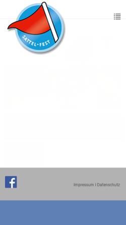 Vorschau der mobilen Webseite www.sattel-fest.com, Sattel-Fest.de