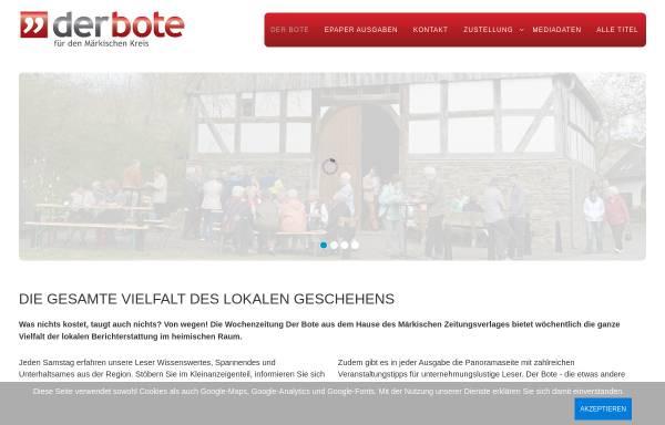 Vorschau von www.stadtanzeiger-menden.de, Stadtanzeiger am Sonntag