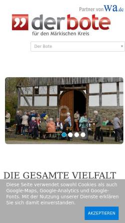Vorschau der mobilen Webseite www.stadtanzeiger-menden.de, Stadtanzeiger am Sonntag