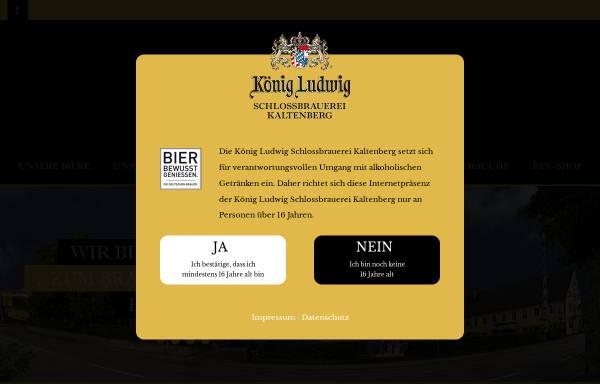 Vorschau von www.koenig-ludwig-brauerei.com, König Ludwig Schloßbrauerei Kaltenberg