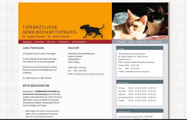 Vorschau von www.hund-katze-maus.net, Kleintierpraxis Dr. Göpner & Schroth