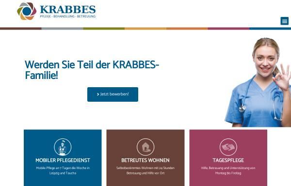 Vorschau von www.pflegedienstkrabbes.de, Mobiler Alten- und Krankenpflegedienst Krabbes