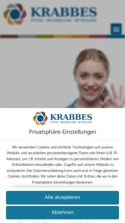 Vorschau der mobilen Webseite www.pflegedienstkrabbes.de, Mobiler Alten- und Krankenpflegedienst Krabbes
