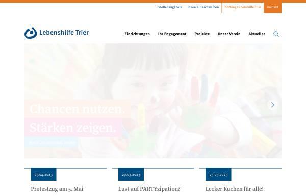 Vorschau von www.lebenshilfe-trier.de, Lebenshilfe Trier e.V.