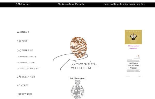 Vorschau von www.hubert-wilhelm.de, Sekt- und Weingut Hubert Wilhelm