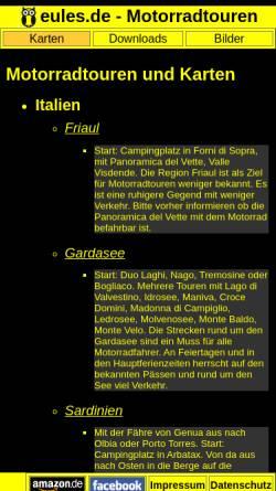 Vorschau der mobilen Webseite www.motorrad.eules.de, Eules, Martin