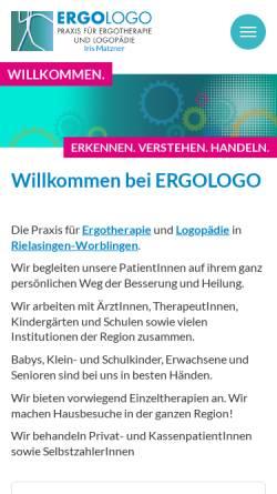 Vorschau der mobilen Webseite www.ergologo.com, Ergotherapie und Logopädie in der Bodenseeregion