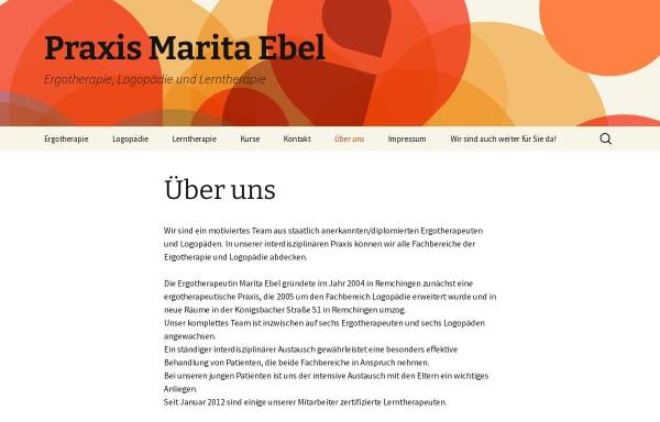 Vorschau von www.ergo-ebel.de, Praxis für Ergotherapie Marita Ebel