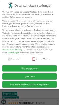 Vorschau der mobilen Webseite www.ergoschorndorf.de, Zieger · Praxis für Ergotherapie