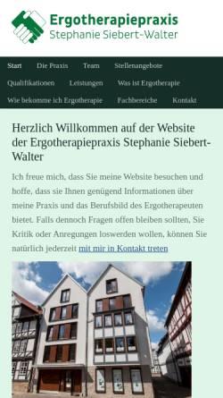 Vorschau der mobilen Webseite www.ergotherapie-melsungen.de, Ergotherapiepraxis Stephanie Siebert-Walter