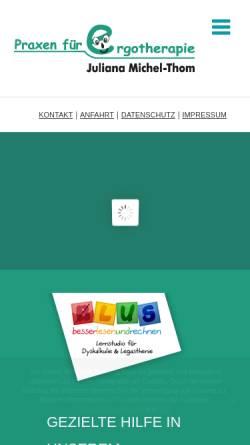 Vorschau der mobilen Webseite www.ergotherapie-michelthom.de, Ergotherapie Michel-Thom