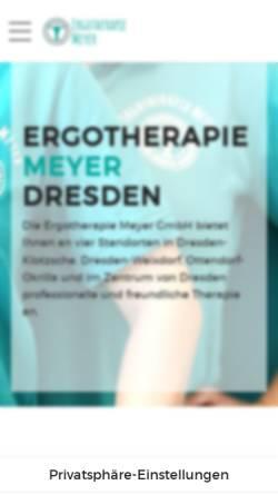 Vorschau der mobilen Webseite ergomeyer.de, Ergotherapie Meyer UG