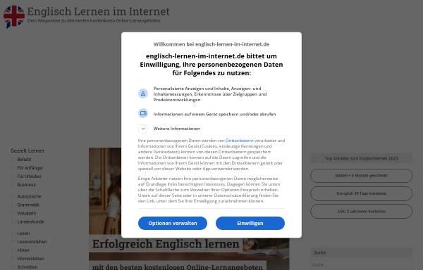 Vorschau von www.englisch-lernen-im-internet.de, Englisch lernen im Internet