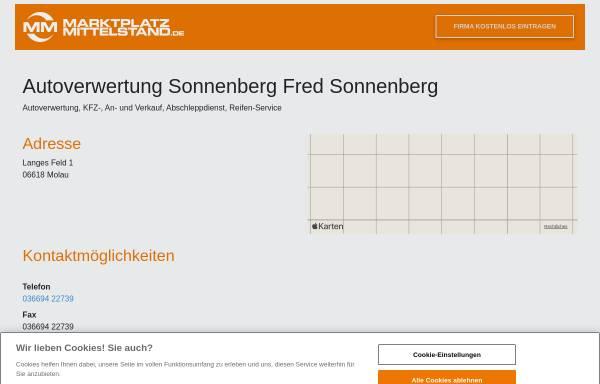 Vorschau von www.mon.de, Autoverwertung Fred Sonnenberg