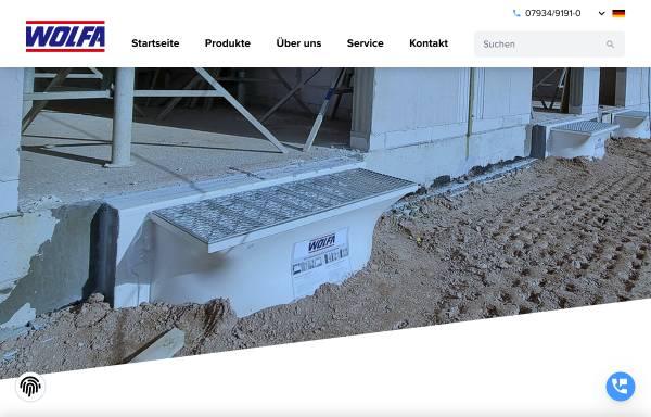 Vorschau von www.wolfa.de, Friedrich Wolfarth GmbH & Co. KG