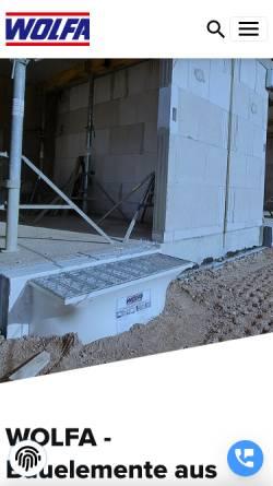 Vorschau der mobilen Webseite www.wolfa.de, Friedrich Wolfarth GmbH & Co. KG