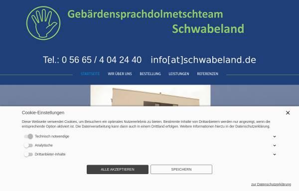 Vorschau von www.schwabeland.de, Gebärdensprachdolmetscher Schwabeland