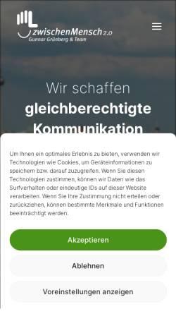 Vorschau der mobilen Webseite www.zwischenmensch-berlin.de, zwischenMensch2.0