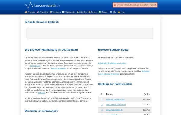 Vorschau von www.browser-statistik.de, Browser-Statistik.de