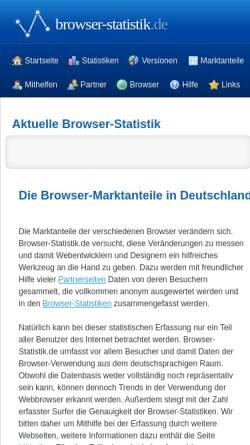 Vorschau der mobilen Webseite www.browser-statistik.de, Browser-Statistik.de