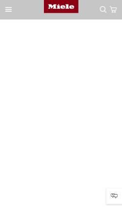 Vorschau der mobilen Webseite www.miele-professional.de, Miele & Cie. KG