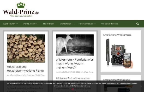 Vorschau von www.wald-prinz.de, Wald-Prinz.de
