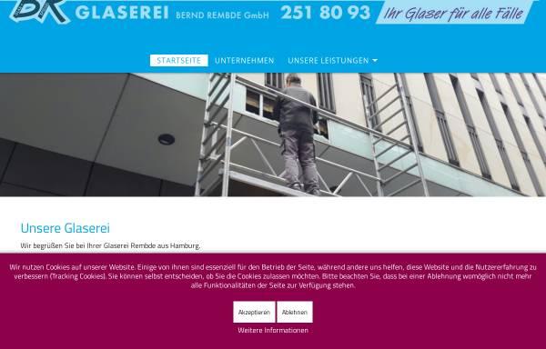 Vorschau von www.glaserei-rembde.de, Glaserei Bernd Rembde GmbH